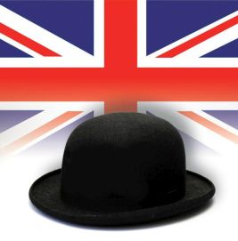 Flag and bowler hat