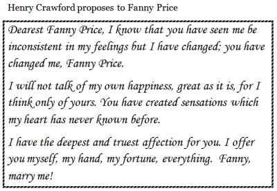 Henry's marriage proposal